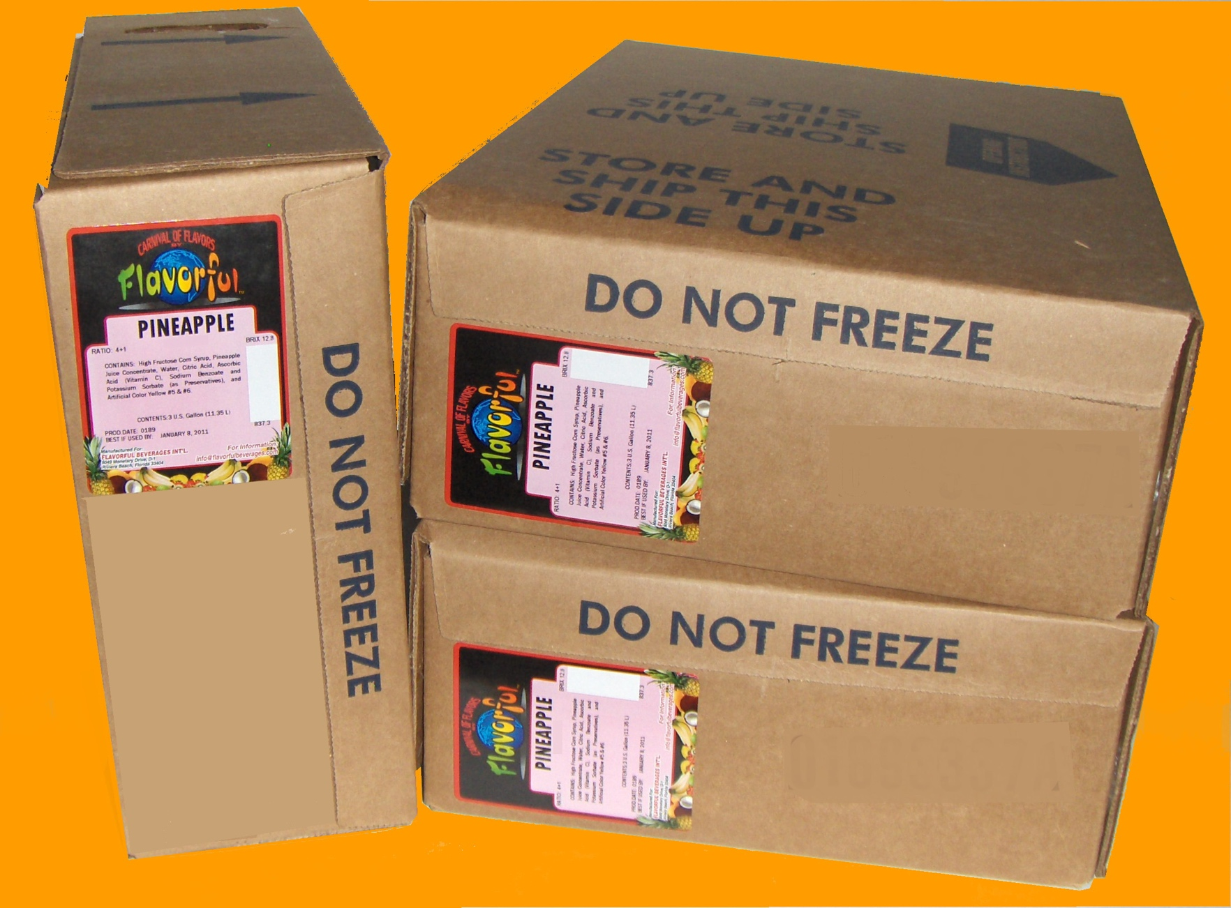 Boxes of Flavorful Beverage Products