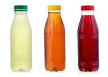 Assorted plastic bottles of juice